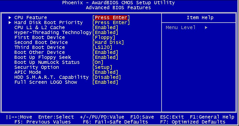 Phoenix BIOS:определение, настройка и обновление