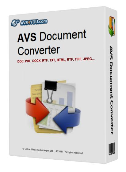 AVS Document Converter: качественный конвертер