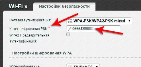 текущий пароль