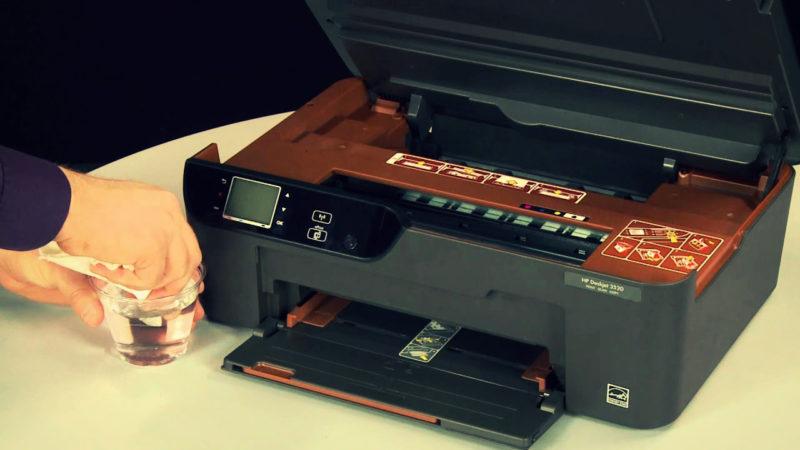 Чистка принтера HP